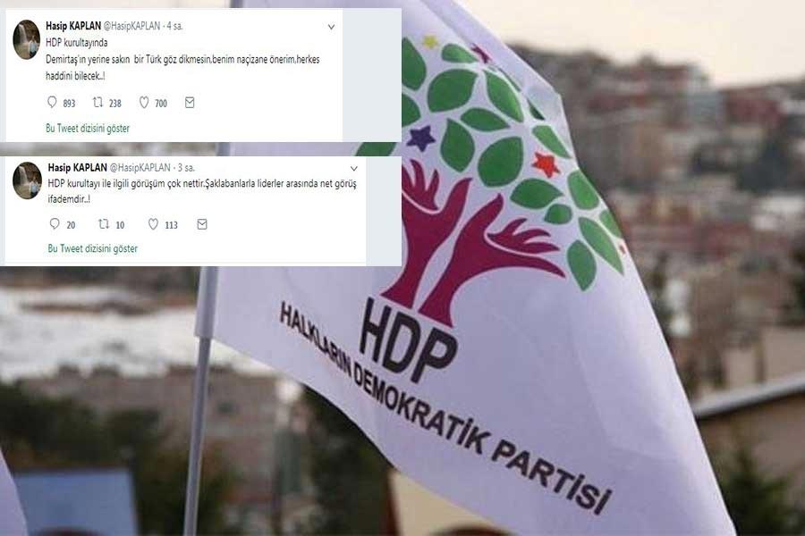 HDP ve Önder'den Hasip Kaplan'ın açıklamalarına tepki