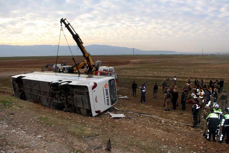 Silopi'de otobüs kazası: 9 ölü, 38 yaralı