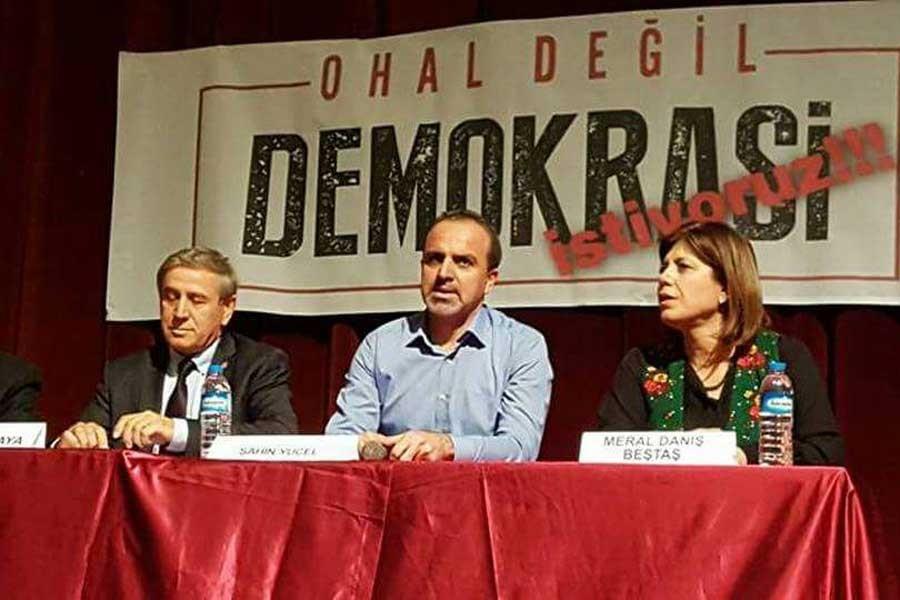 Tarsus'ta OHAL değil, demokrasi istiyoruz' paneli