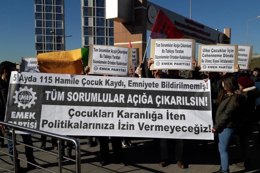 EMEP'ten hastane önünde eylem: Tüm sorumlular yargılansın