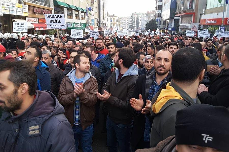 Gebze Sarkuysan işçisi: OHAL işçiye her alanda darbe vuruyor