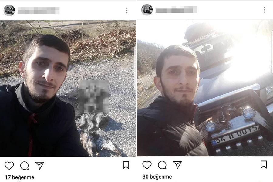 Ezerek öldürdüğü tilkinin fotoğrafını çekip paylaştı!