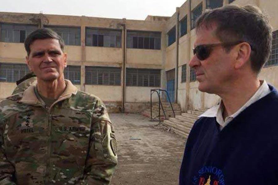 ABD'li komutanlar Rakka'yı ziyaret etti