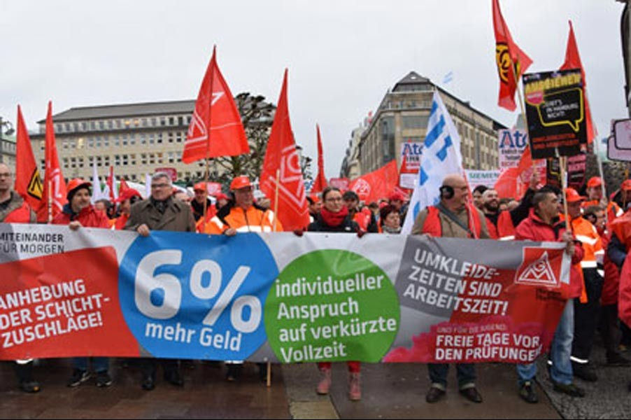 Hamburg metal işçileri: Dayanışmayı ve birliği güçlendirelim