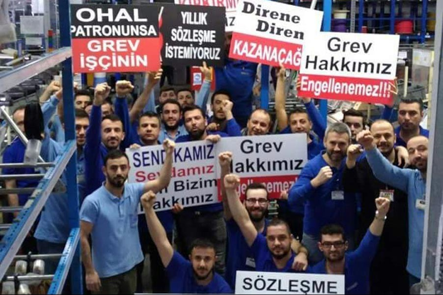 Metal industry strike banned by the Turkish government