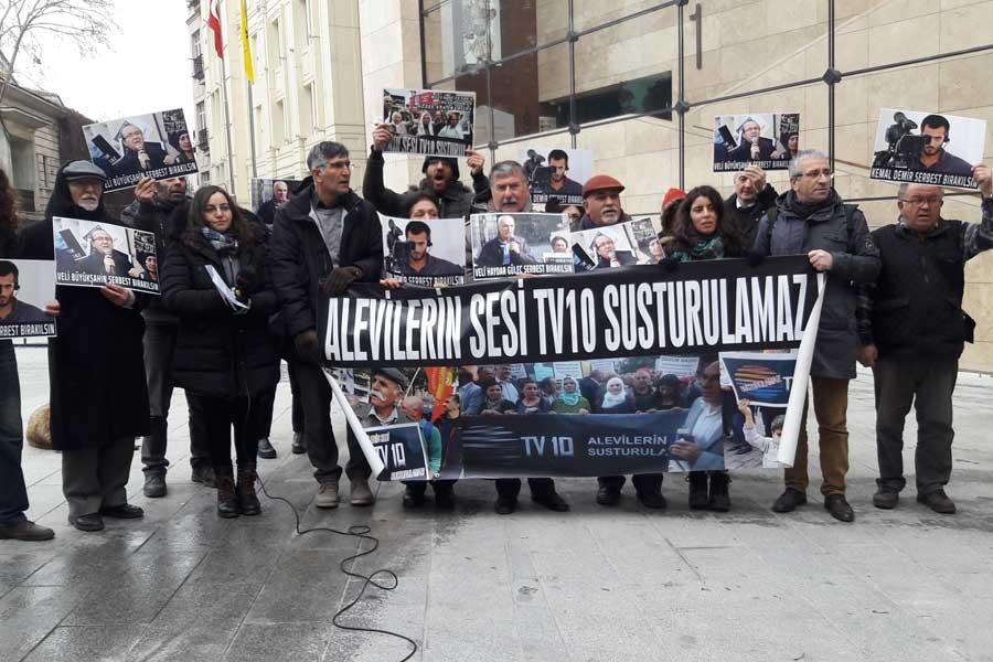 TV10 çalışanları: Tutuklanan arkadaşlarımız bırakılsın