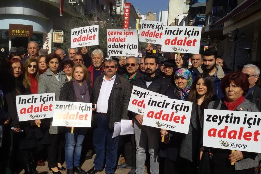 Aydın Efeler'de kurulmak istenen JES protesto edildi