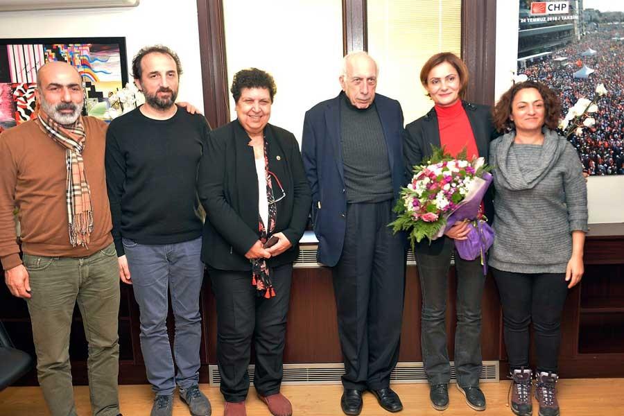 İstanbul Tabip Odasından Canan Kaftancıoğlu'ya ziyaret