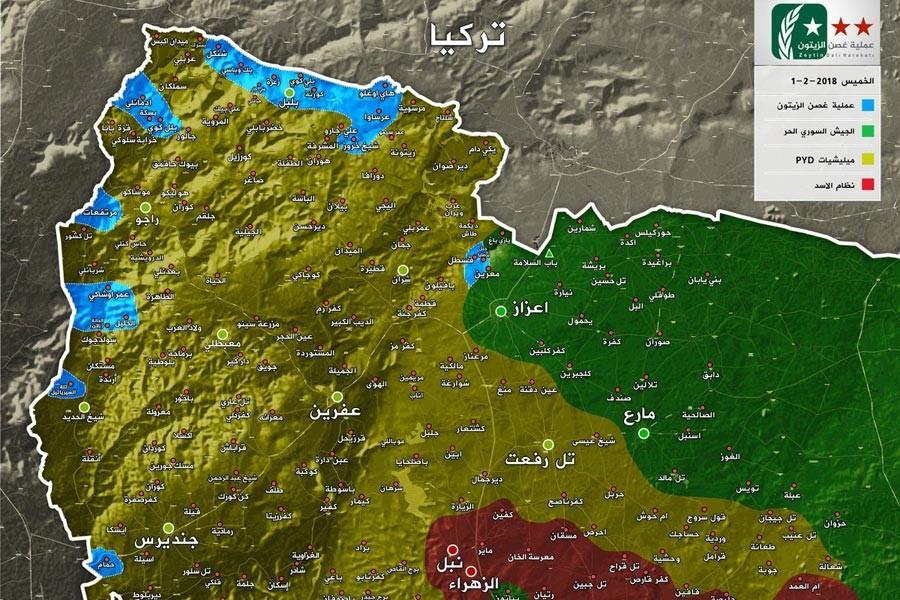 Afrin haritası
