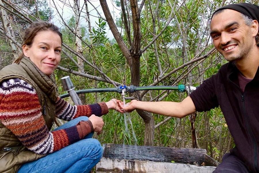 Alakır'daki çevreci çiftin 116 günlük susuzluğu sona erdi!
