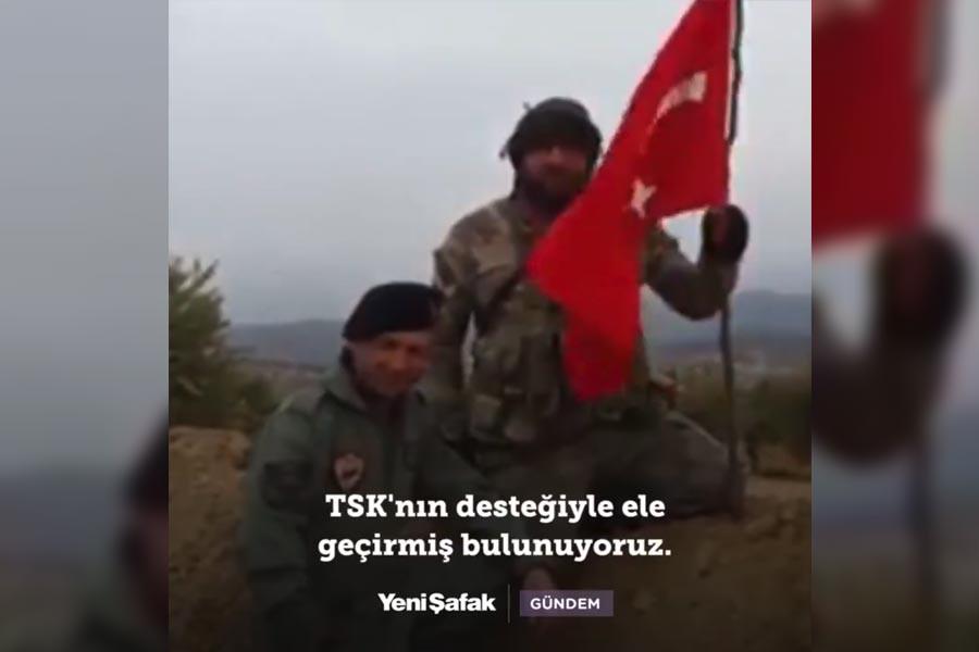 Rizeli ÖSO askeri bayrak dikti, TSK askeri ezan okudu