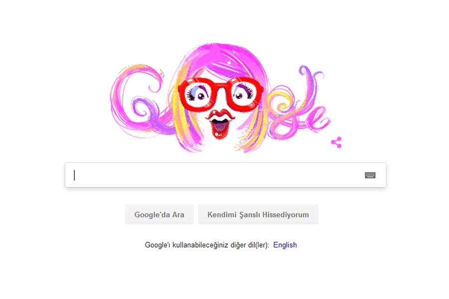 Google, Aysel Gürel'in doğum gününü Doodle'la kutladı
