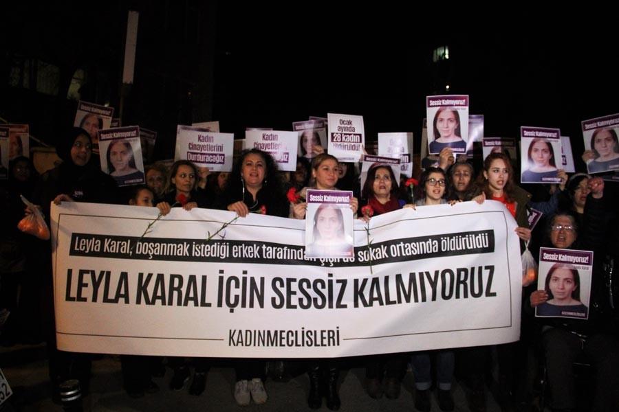 Leyla Karal'ın öldürüldüğü yerde eylem: Sessiz kalmıyoruz!