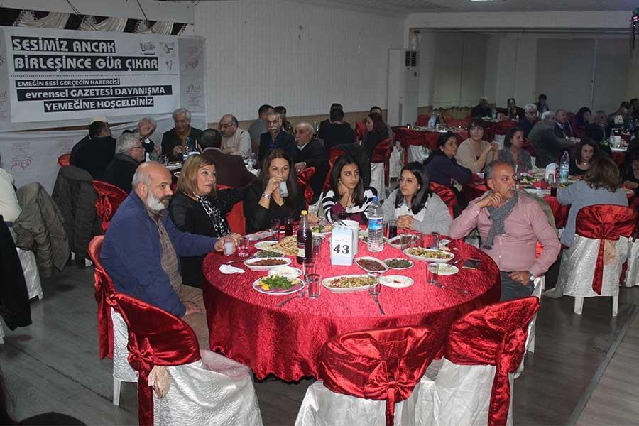 Adana'da Evrensel'le dayanışma yemeği düzenlendi