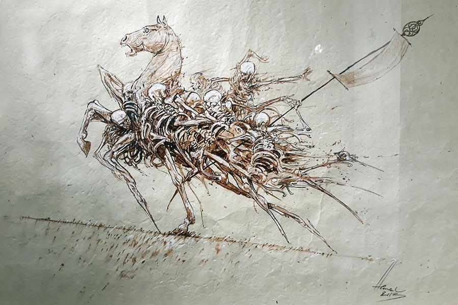 Yersiz zamanın içinden insan ve at iskeletleri