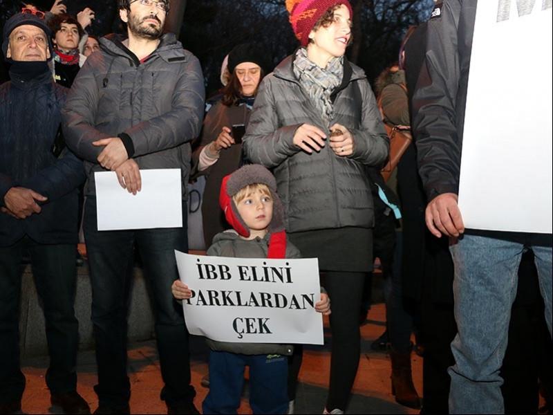 Maçka Demokrasi Parkı'ndaki inşaat yurttaşlarca protesto edildi