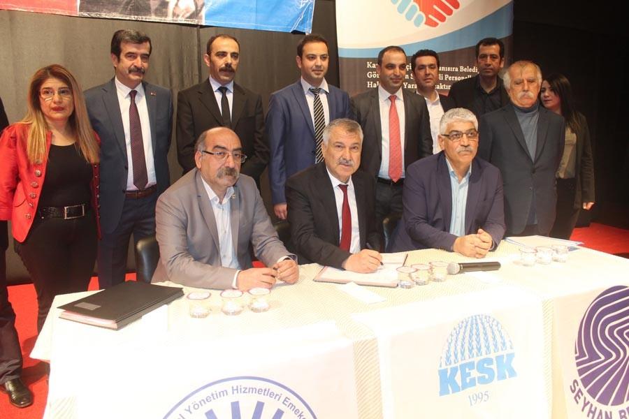 Tüm Bel-Sen, Seyhan Belediyesinde toplusözleşme imzaladı