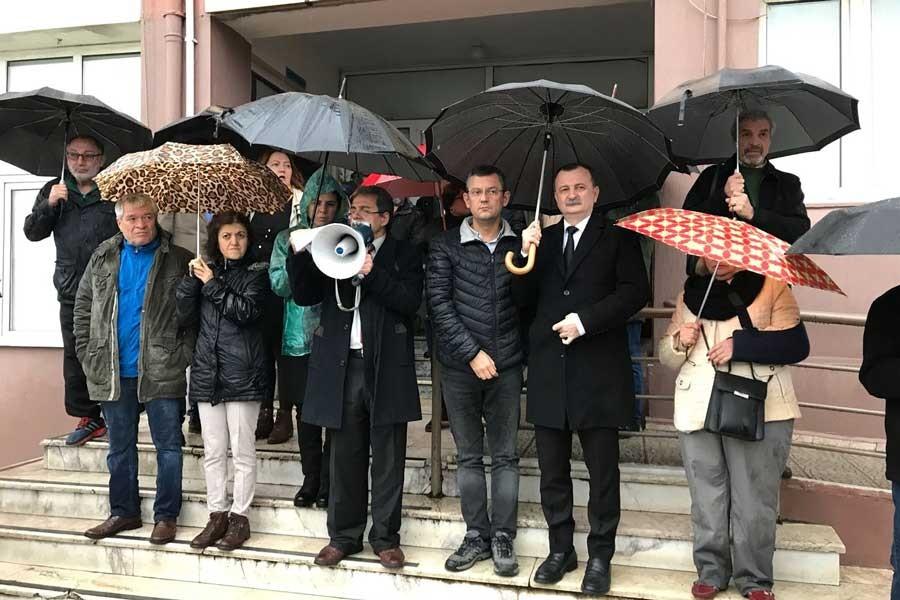 Manisa'da iş cinayeti protestosu