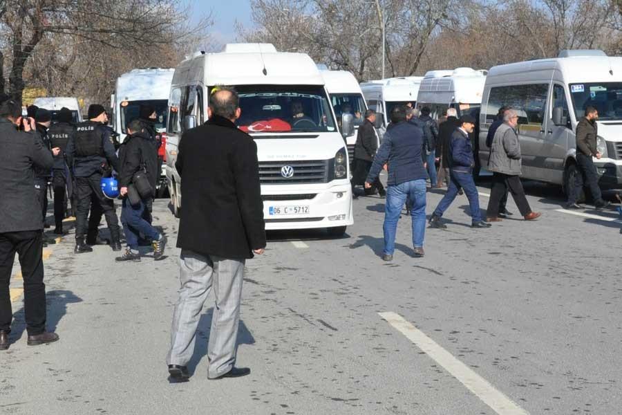 Ankara'da servisçilerin eylemine polis saldırısı