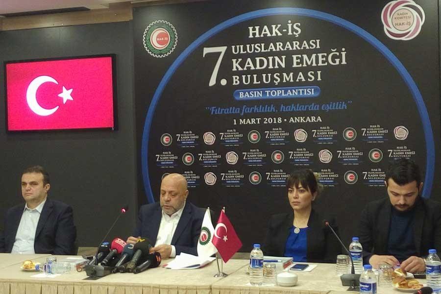 Hak-İş'in 8 Mart konuğu Erdoğan