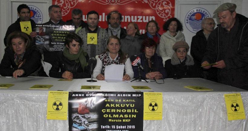 Mersin'de nükleer karşıtları mitinge hazır