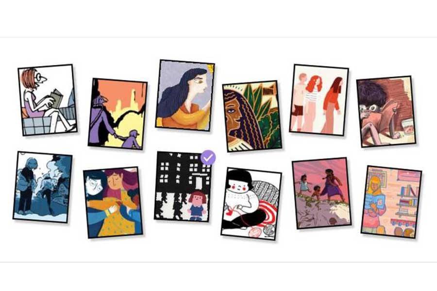 Google, Dünya Kadınlar Günü Doodle'ını erkenden paylaştı