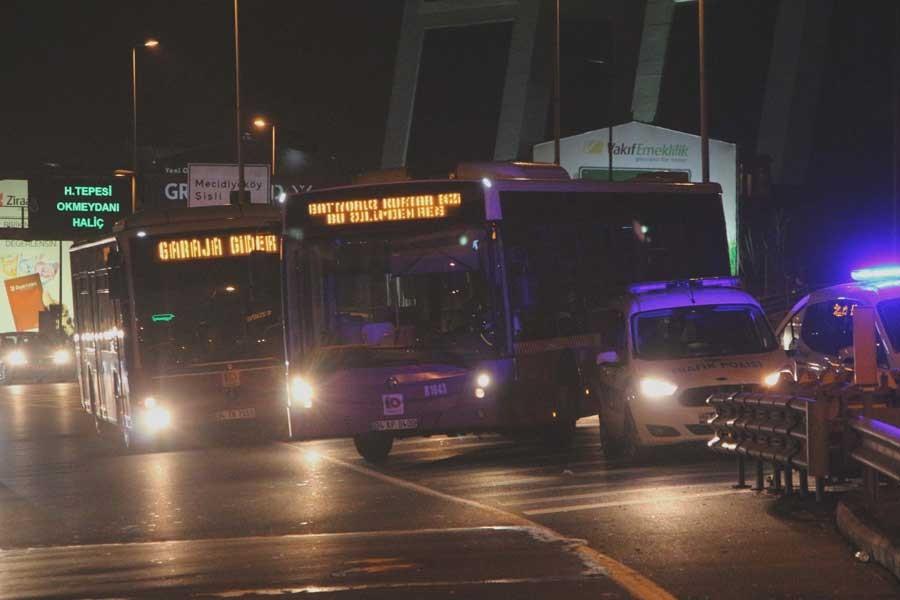 Özel Halk Otobüsçülerinden 15 Temmuz Köprüsü'nde eylem