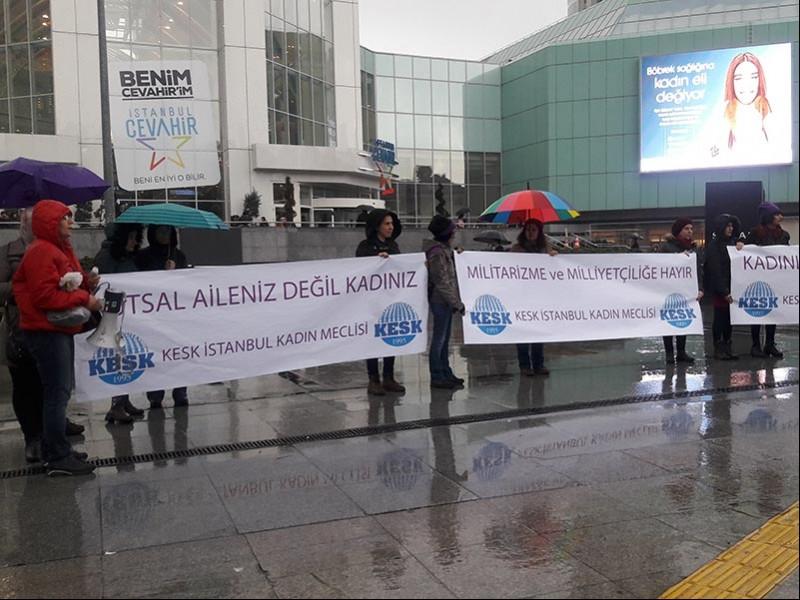 KESK İstanbul Kadın Meclisi 8 Mart'ta basın açıklaması yaptı