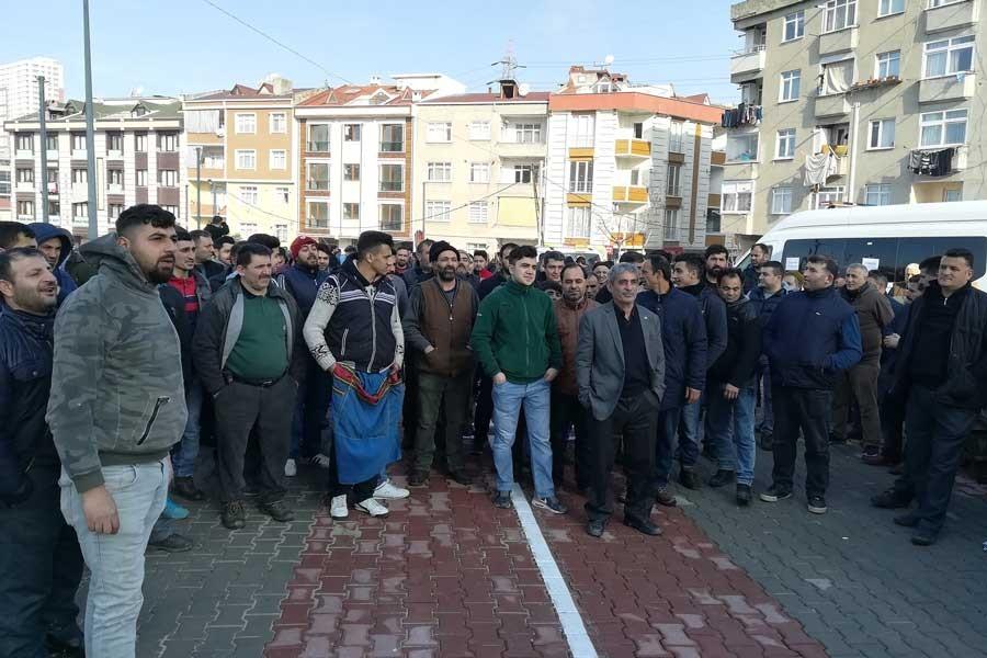 Bağcılar'da eylem yapan pazarcılara polis saldırısı