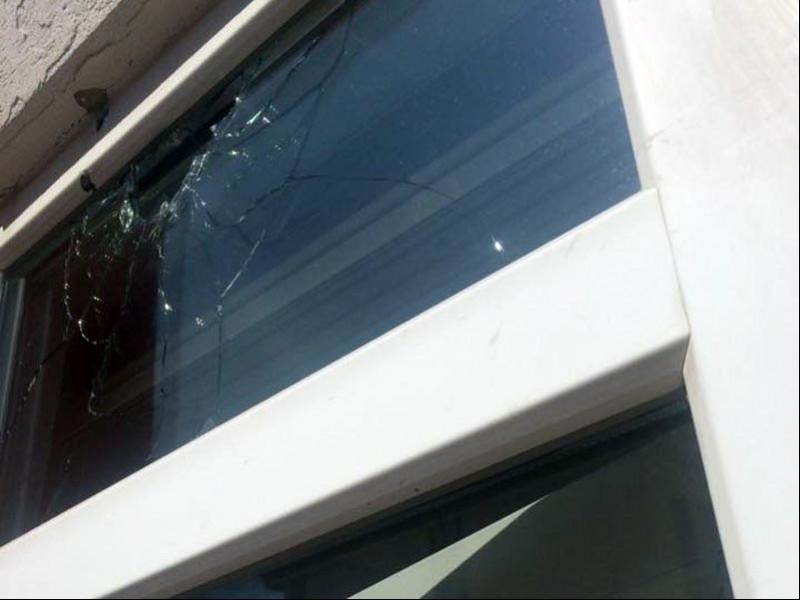 CHP Balıkesir Karesi ilçe binasına saldırı gerçekleştirildi (Fotoğraf: EVRENSEL)