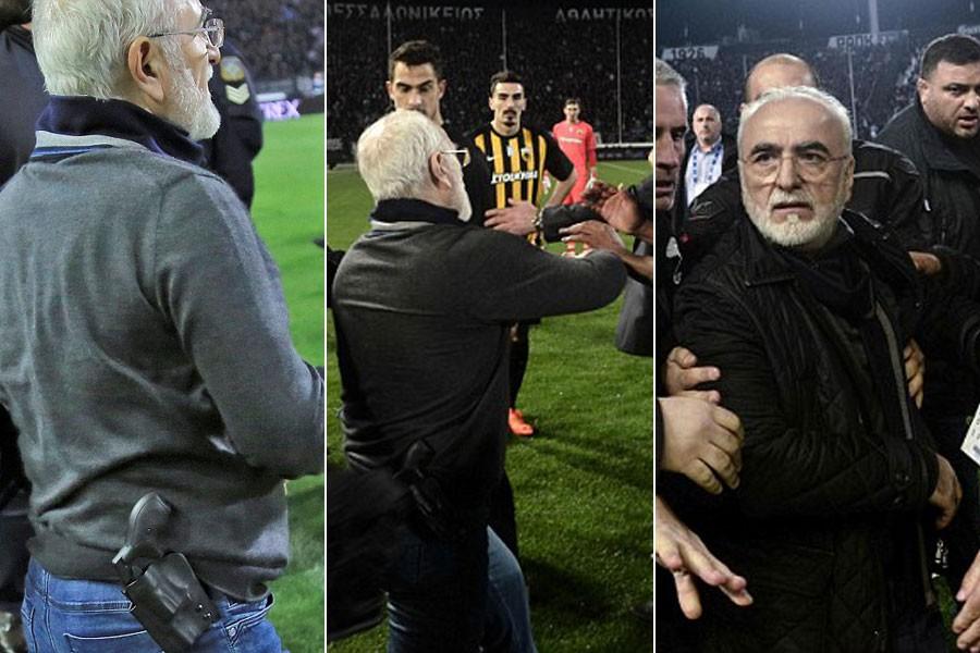 PAOK Başkanı silahla sahaya girdi, lig maçları ertelendi