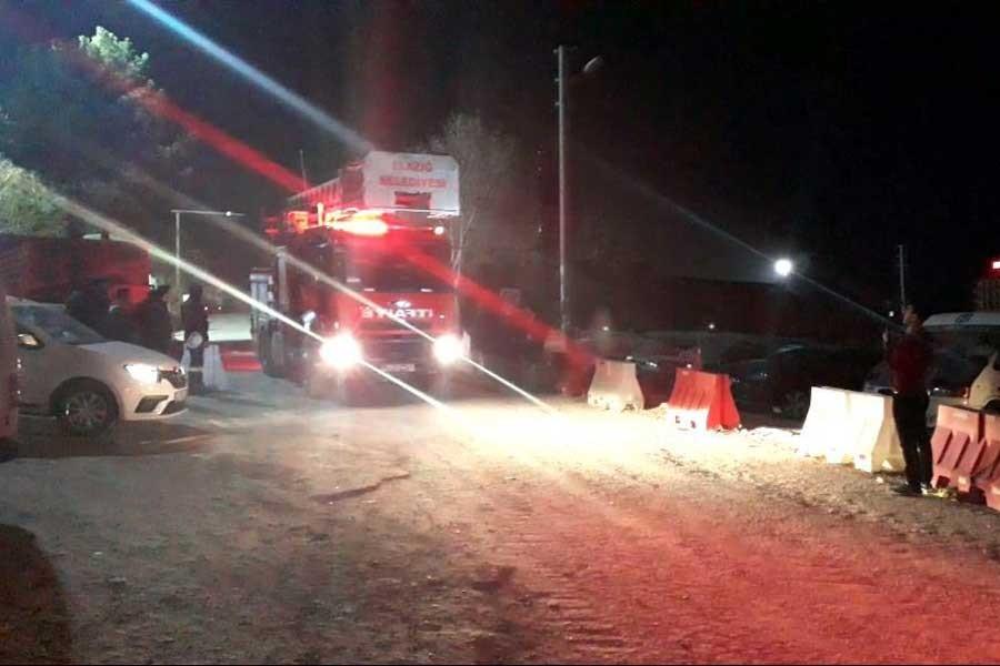 Elazığ Şehir Hastanesi inşaatında yangın