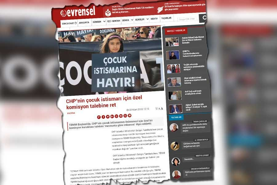 Kahraman'dan 'İstismar komisyonu kurulmasın' haberine sansür