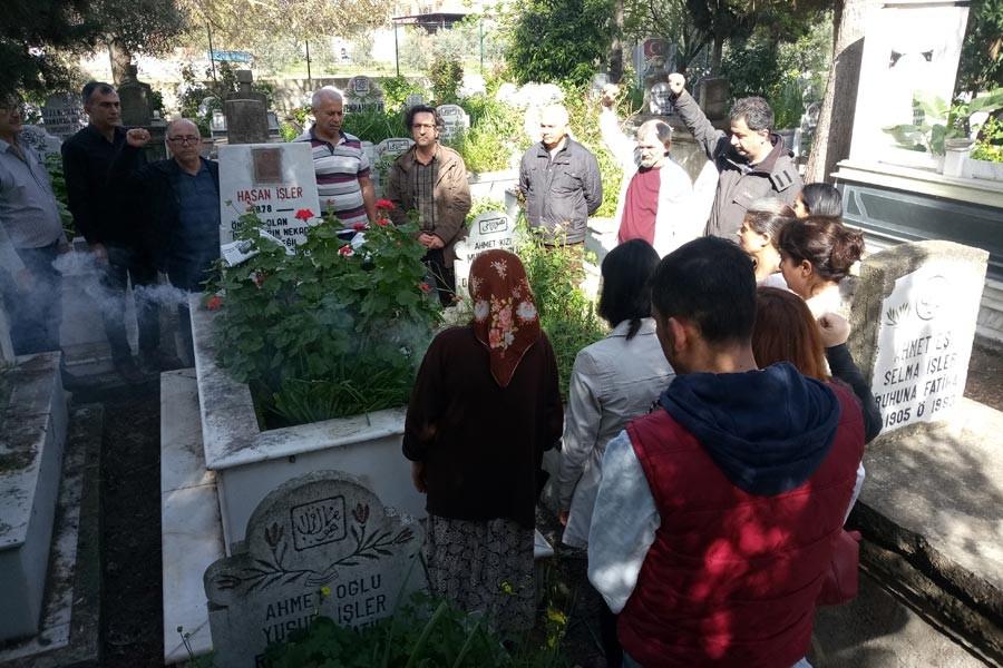 Muhabirimiz Hasan İşler mezarı başında anıldı