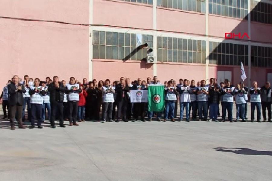 Burdur'da şeker fabrikası işçileri eylem yaptı
