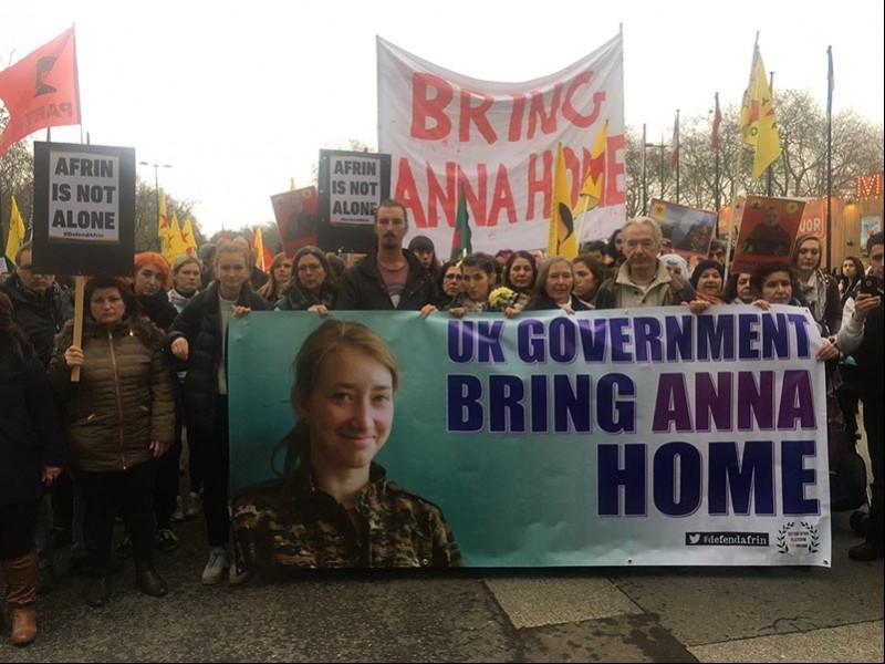 Londra'da Afrin'e destek yürüyüşü düzenlendi