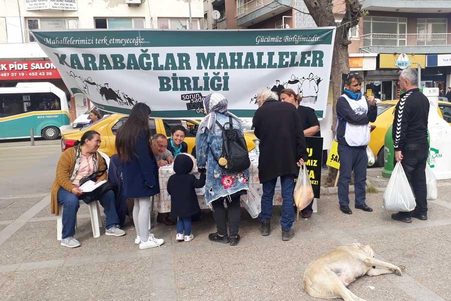 İzmir Karabağ halkından 'kentsel dönüşüme' itiraz