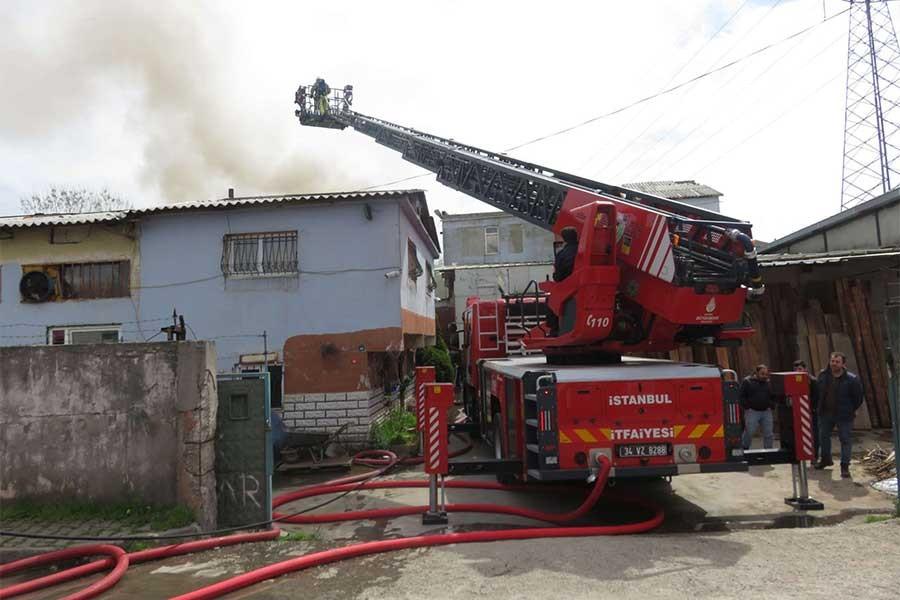 Ataşehir'de fabrika yangını