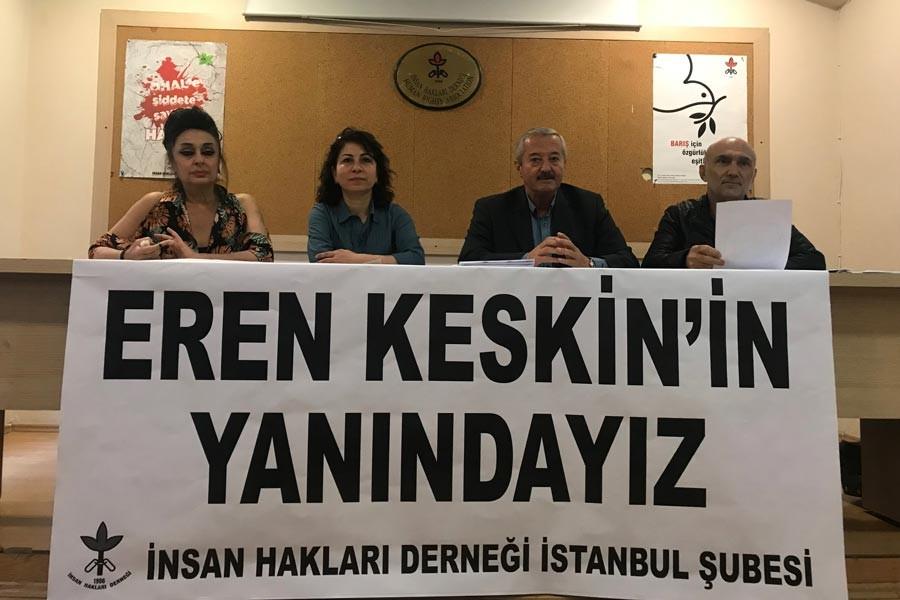 Gazeteciler, hak savunucuları, siyasetçiler: Eren Keskin'in yanındayız