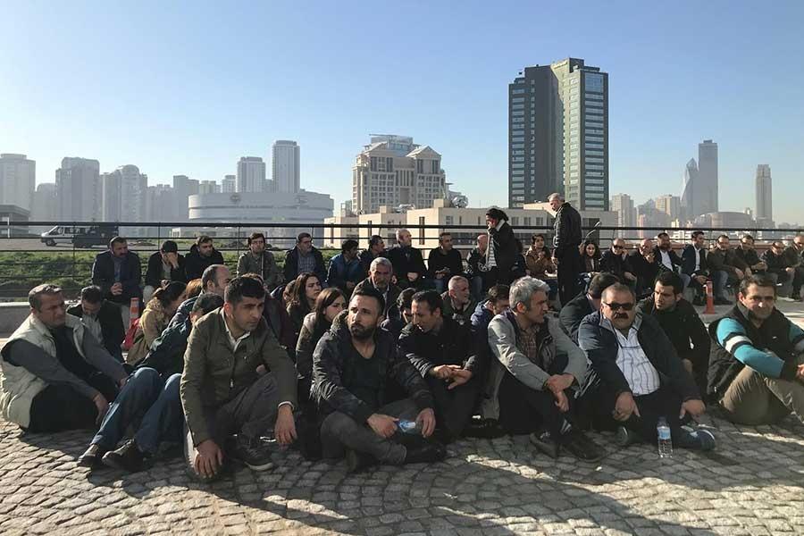 Ataşehir Belediyesi işçileri işlerini geri istiyor