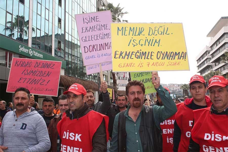 Bakırköy Belediyesi işçilerinin 1 Mayıs talebi kadro!