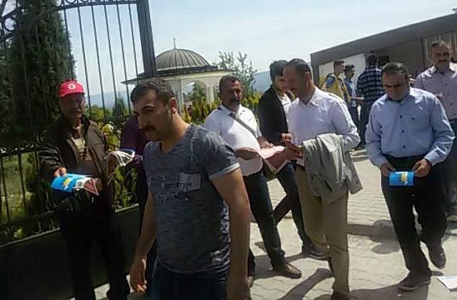 Çorum OSB'de çalışan işçilere 1 Mayıs mitingine katılma çağrısı