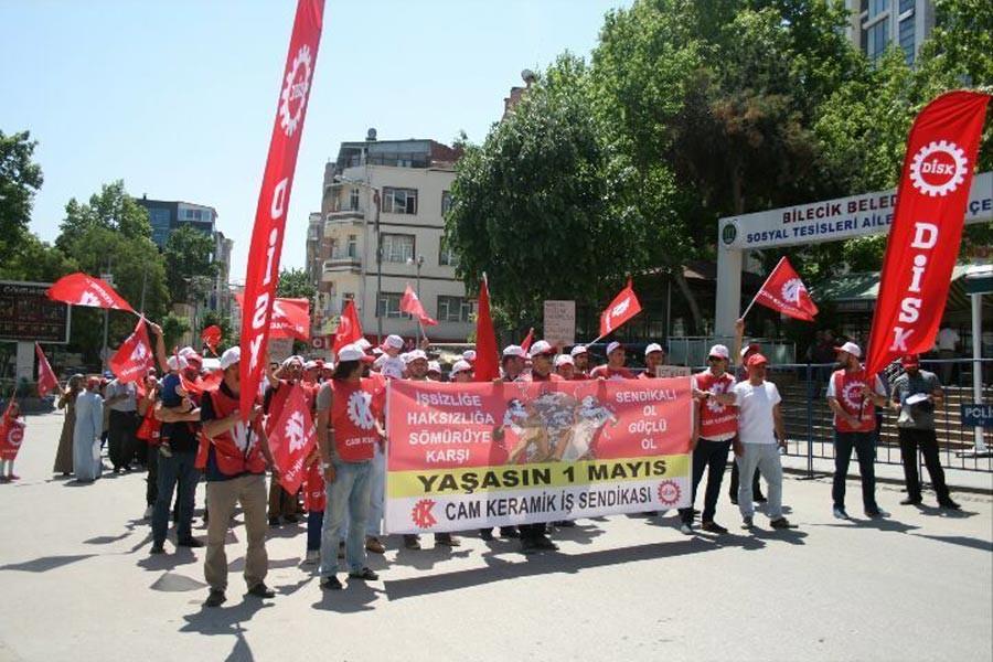 Cam işçileri mücadelelerini 1 Mayıs alanına taşıdı