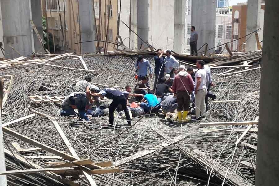 Şanlıurfa'da külliye inşaatında göçük: 6 işçi yaralandı