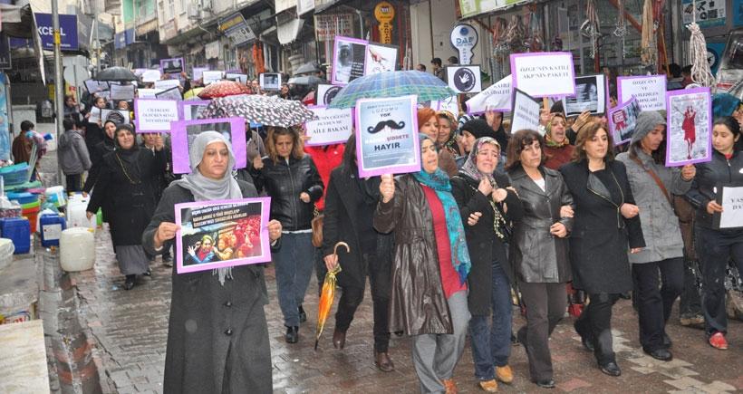 Çermikli kadınlar Özgecan'la birlikte Meryem için seslerini yükseltti