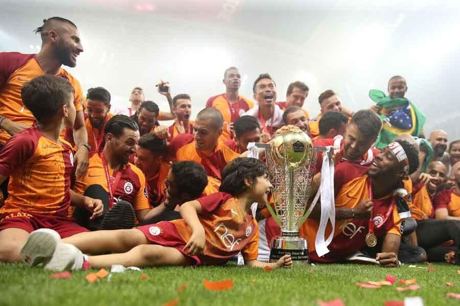Galatasaray şampiyonluğu kutladı