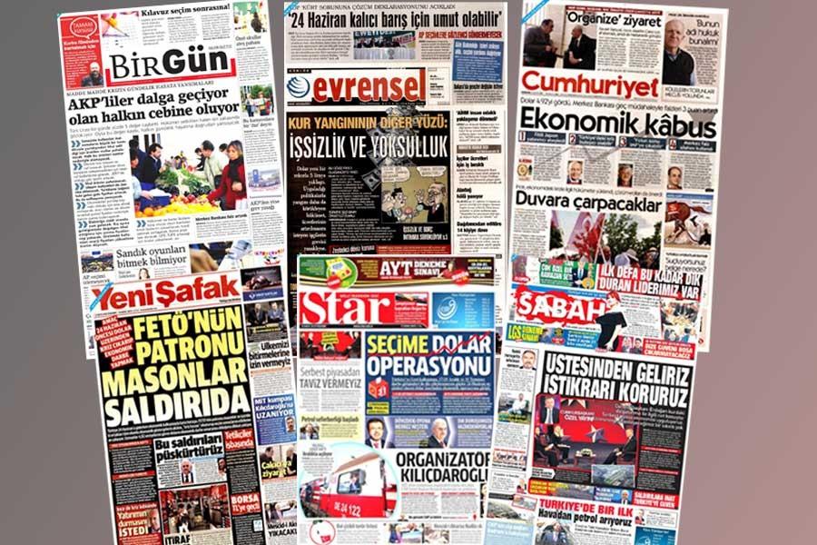 İktidar medyasında dolar: Masonlar, dış güçler, FETÖ...