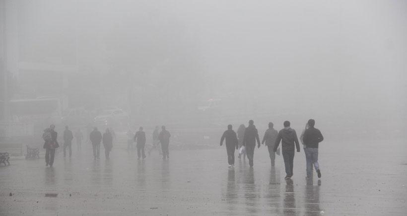 Urfa'da sis etkili oluyor