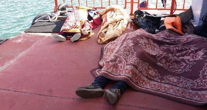 13 göçmeni arama çalışmaları sürüyor