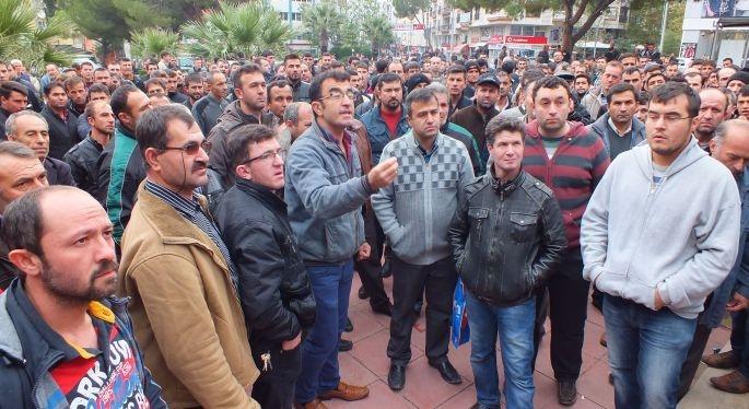 Soma'da madencilerin ücret isyanı